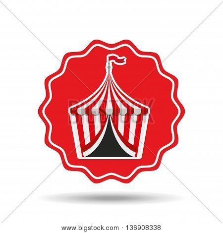 circus tent isolated icon design, vector illustration  graphic