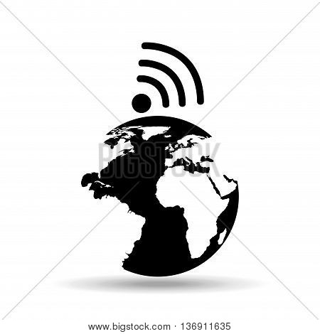 global connection isolated icon design, vector illustration  graphic