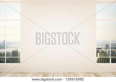 Blank Wall In Empty Interior
