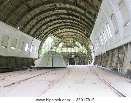 Detail of veteran airplane. Interior. Quepo. Manuel Antonio. Costa Rica