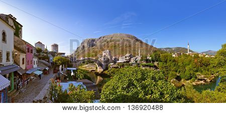 Old Bridge in Mostar - Bosnia and Herzegovina - architecture travel background