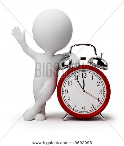 3D Small People - Alarm Clock