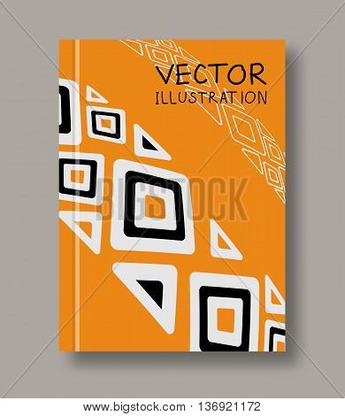 Geometric ethnic abstract orange flyers. Ethnic brochure templates. Design ethnic elements. Ethnic Line art. Abstract ethnic decoration. Vector illustration.