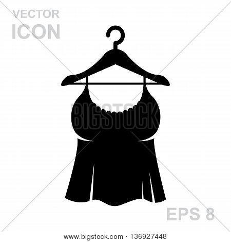 Sundress Icon. Evening Dress. Combination Or Nightie Silhouette.