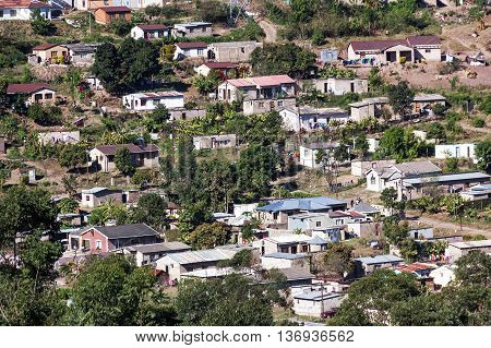 Crowded Low Cost Township Housing In Marianne Hill