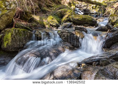 Cascade at Jalovecka valley in West Tatras mountains - Slovakia