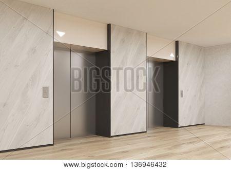 Interior With Elevators