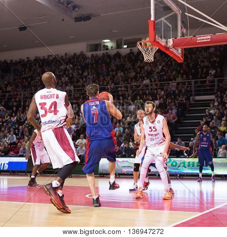 Bc Cska Guard Vitaly Fridzon (7) With Ball