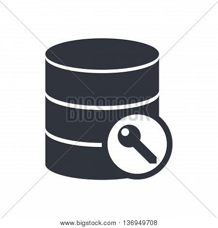 Database Access Icon In Vector Format. Premium Quality Database Access Symbol. Web Graphic Database