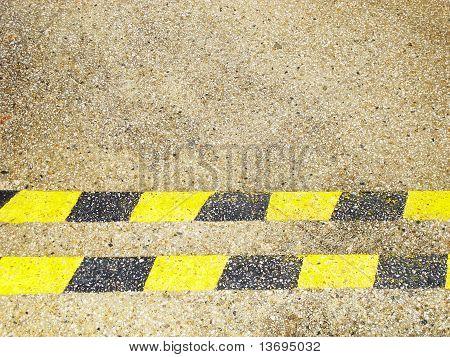 yellow and black horizontal lines