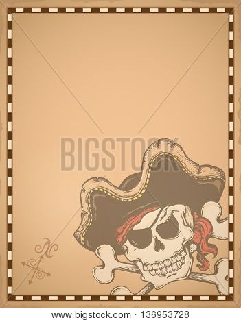 Parchment with pirate thematics 1 - eps10 vector illustration.