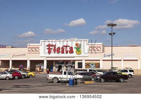 FORT WORTH Tx USA - APR 19 2016: Fiesta mart supermarket. Fiesta is an American chain based in Houston Texas