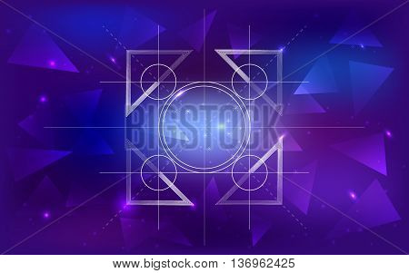 geometry space galaxy illustration background sacred geometry
