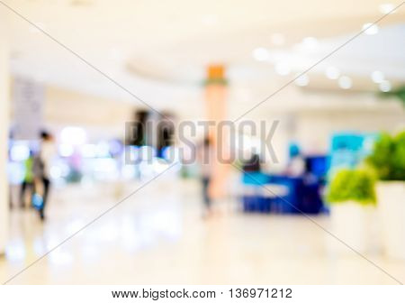 store mall blur background with bokeh light