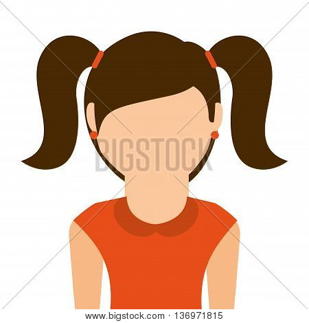 little girl isolated icon design, vector illustration  graphic