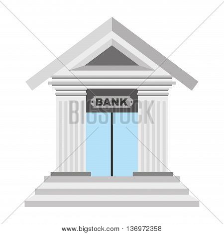 bank isolated icon design, vector illustration graphic