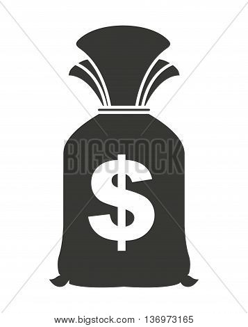 money bag isolated icon design, vector illustration  graphic