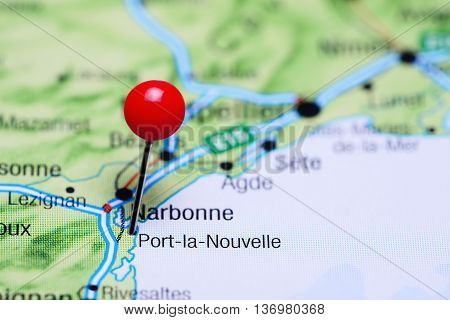 Port-la-Nouvelle pinned on a map of France