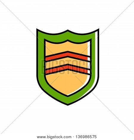 Shield illustration. Security, emblem, badge. Safeguard concept. Can be used for topics like security, insignia, safety