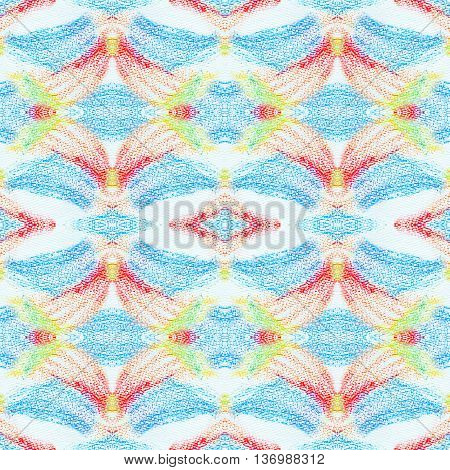 Grunge seamless texture of pastel strokes. Crayons seamless abstract grunge background. Design element. Hand drawing pattern. Pencil design elements.