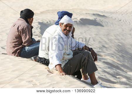 Bedouins In Sahara