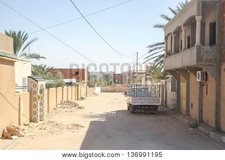 Dusty Street In Sidi Ali Ben Aoun