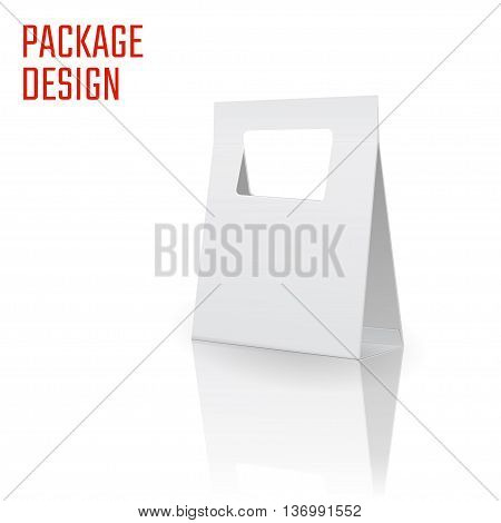 Vector Illustration of Clear Craft Box for Design, Website, Background, Banner. Retail Folding package Template. Fold pack Blank for your brand on it poster