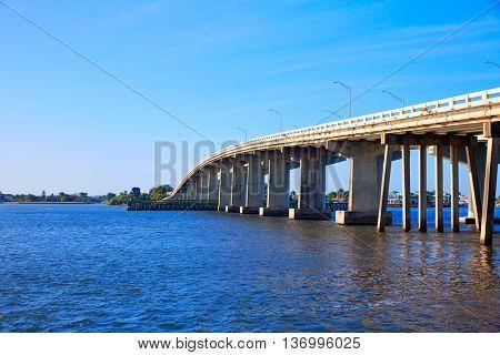 Naples Florida Marco Island bridge view in Florida USA