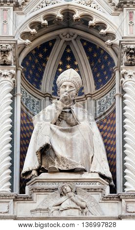FLORENCE, ITALY - JUNE 05: St. Antoninus (Antonio Pierozzi, the Archbishop of Florence), Cattedrale di Santa Maria del Fiore (Cathedral of Saint Mary of the Flower), Florence, Italy on June 05, 2015