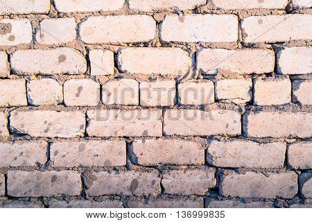 Faded Brick Wall