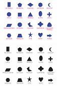 education basic geometric shapes star shape shape simplicity vector pentagon poster