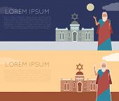 Vector image of the moses Jew Banner poster