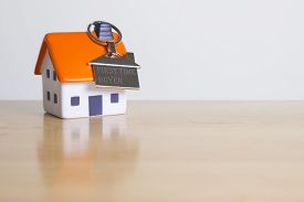 foam house with chrom keyring - Buying your first home