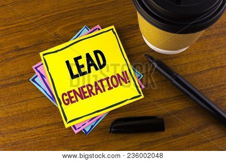 Word Writing Text Lead Generation Motivational Call. Business Concept For Sales Pipeline Digital Gen