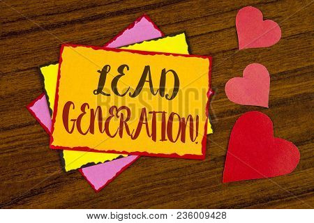 Text Sign Showing Lead Generation Motivational Call. Conceptual Photo Sales Pipeline Digital Generat