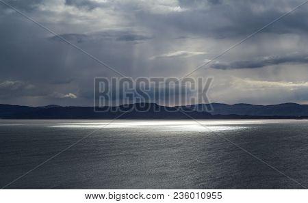 Island Of Raasay Seen From The Applecross Peninsula, On The West Coast Scotland.