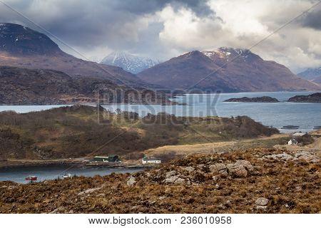 Mountainous Scenery On The West Coast Of Scotland Near Torridon