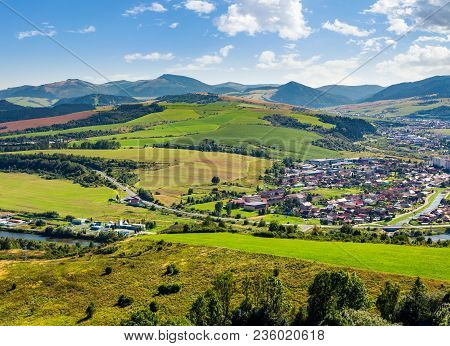 Stara Lubovna Town In Slovakia. Lovely Summer Landscape In Summer