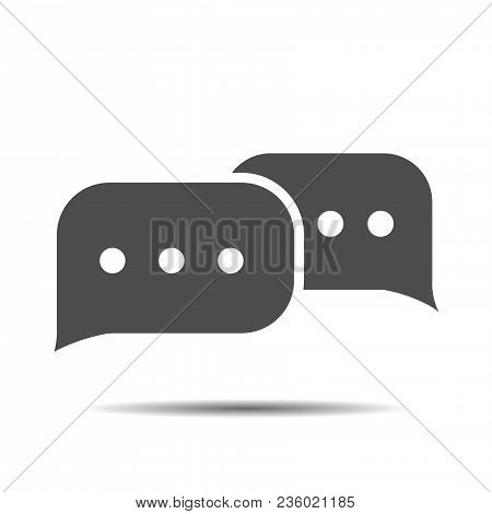 Message Thin Line Icon. Message Icon Vector. Message Icon Illustration. Isolated Chat Symbol Message