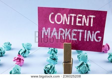 Word Writing Text Content Marketing. Business Concept For Digital Marketing Strategy Files Sharing O