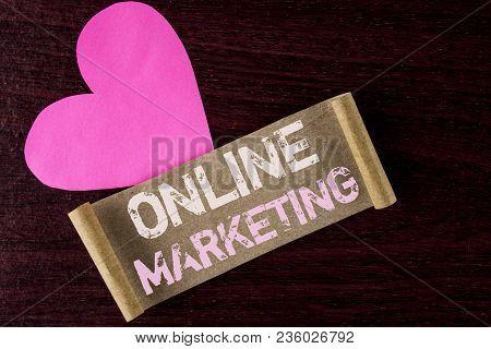 Conceptual Hand Writing Showing Online Marketing. Business Photo Showcasing Marketing Digital Advert