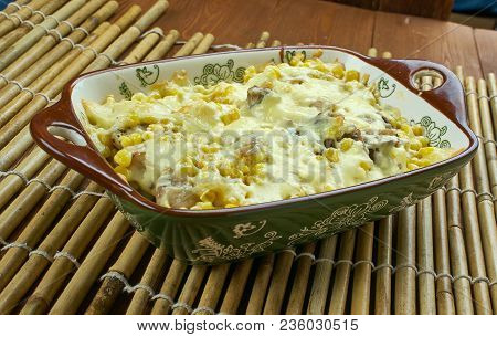 Fried Corn Dip With Chicken