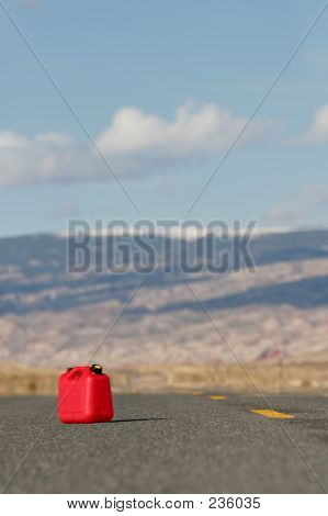 Red Spare Gas Tank