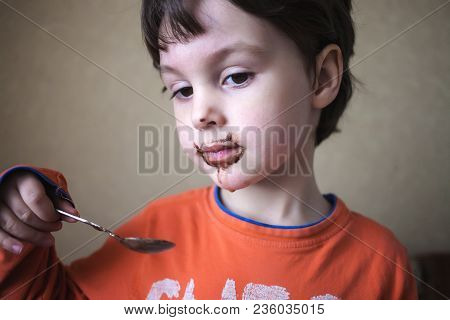 A Child With A Dirty Face.