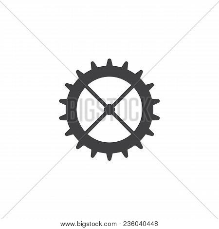 Cog Wheel Vector Icon. Filled Flat Sign For Mobile Concept And Web Design. Gear Wheel Simple Solid I