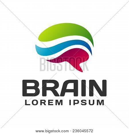 Brain Logo. Brain Icon. Brainstorm Icon.logo Ideas. Brain Vector. Psychology Logo. Brain Silhouette.