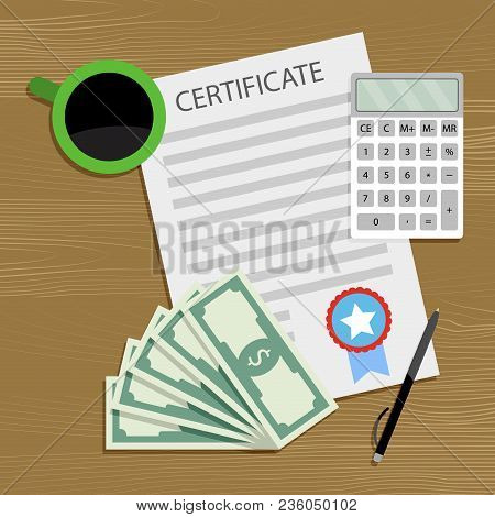 Financial Fund For Training. Finance Fund Money For Investment To Graduation And Study. Vector Illus