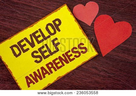 Conceptual Hand Writing Showing Develop Self Awareness. Business Photo Text What You Think You Becom