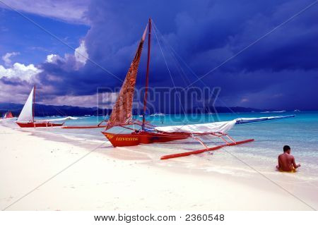 Just Before The Storm In Boracay Philippines