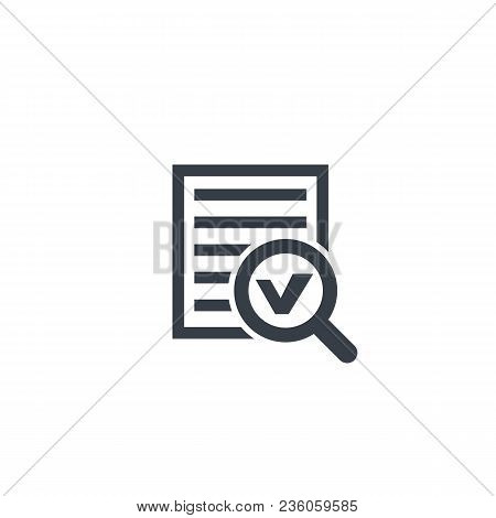Survey Report, Document Icon Isolated On White, Eps 10 File, Easy To Edit